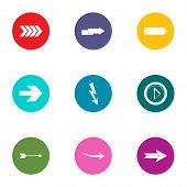 Постер, плакат: Translation Of Shooter Icons Set Flat Set Of 9 Translation Of Shooter Vector Icons For Web Isolated