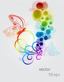 Abstract  colorful background.Butterfly.vector.