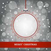 Christmas background. Frame in shape of a Christmas ball. Element for design.