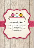 stock photo of cupcakes  - Pink Cupcake Invitation - JPG