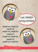 Cute owl birthday card