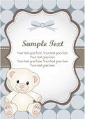 baby boy greeting card with teddy bear