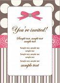 Romantic Pink Retro Invitation card