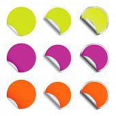 Set vector round stickers