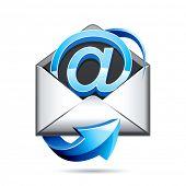 ícone de correio e
