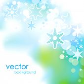 Abstract blue Christmas and New Year background.