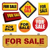 For sale signs. Visit my portfolio for similar images.