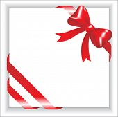 white card with red bow
