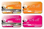 glossy discount cards
