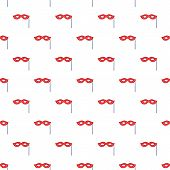 Carnival Mask Pattern. Cartoon Illustration Of Carnival Mask Pattern For Web poster