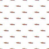 Motor Boat Pattern. Cartoon Illustration Of Motor Boat Pattern For Web poster