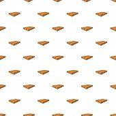 Pile Of Wood Planks Pattern. Cartoon Illustration Of Pile Of Wood Planks Pattern For Web poster