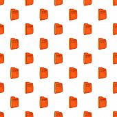 Bisiness Plan Folder Pattern. Cartoon Illustration Of Bisiness Plan Folder Pattern For Web poster