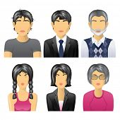 stock photo of people icon  - 6 different user icons  - JPG