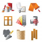 foto of trowel  - Home repair icons set - JPG