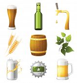 9 highly detailed beer icons
