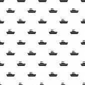 Motor Boat Pattern. Simple Illustration Of Motor Boat Pattern For Web poster
