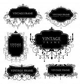 image of chandelier  - elegance vintage frames for your text - JPG