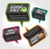 sale & discount tag, speech bubbles