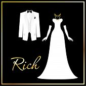 Luxurious dress code - a symbol of wealth, success and affluence. For men - white tuxedo and the but