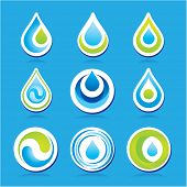 Set of icons - the water. Vector templates.