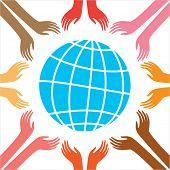 Paz para todas as pessoas. Ilustração vetorial. A idéia de??o cartaz.
