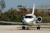 Executive Jet After Landing
