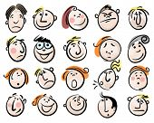image of animated cartoon  - cartoon face vector people - JPG