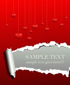 image of loving_couple  - valentine love background with concept frame for text - JPG