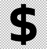Dollar Sign Isolated On Transparent Background. Dollar Icon For Your Web Site Design, Logo, App, Ui. poster