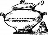Bowl and saltcellar