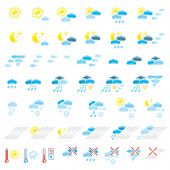 image of hurricane clips  - Pictograms which represent weather conditions - JPG
