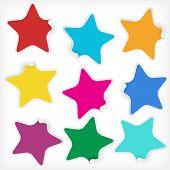 Постер, плакат: Звезды наклейки вектор