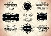 stock photo of text-box  - calligraphy vintage frames for your text - JPG