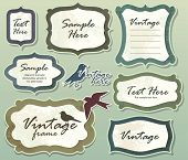 stock photo of text-box  - Set of ornate vector frames and labels - JPG
