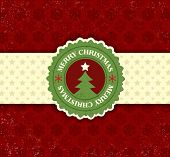 pic of christmas cards  - Christmas background with label and snowflakes vector background - JPG