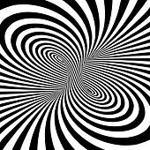 pic of psychodelic  - Black and white stripes projection on torus - JPG
