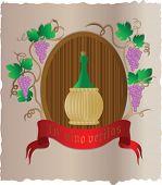 Vector  wine poster