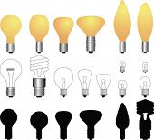 Vector light bulbs collection