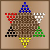 Chinese checkers game board