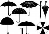 foto of rainy day  - Vector umbrella collection - JPG