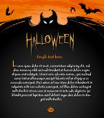 Halloween Backdrop Composition for banners, labels and invitation cards