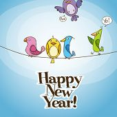 Happy New Year 2011 vector illustration