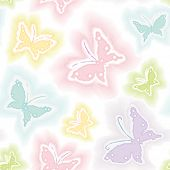 Background with butterflies in watercolor technique