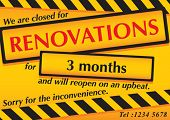 Cartaz de renovações