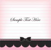 Постер, плакат: Сладкие ноты шаблон