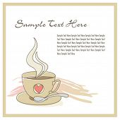 Coffee in cup template 02