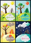 Four seasons vector set