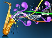 stock photo of musical instruments  - An Illustration of a Music Design  - JPG
