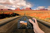 Capturing The Landscape At Monument Valley poster